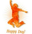 happy man vector image