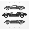 Race cars set vector image