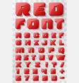 red font 3d on a transparent background vector image