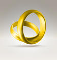 2golden ring vector image vector image