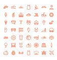 49 summer icons vector image vector image