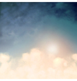 above clouds vector image vector image