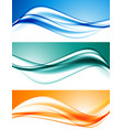 abstract elegant dynamic wavy lines set vector image vector image