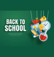 back to school banner with education items vector image vector image