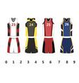 basketball jersey vector image