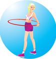 Beautiful blond girl with hoop vector image vector image