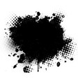 black spot paint on a white vector image vector image