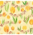Bright seamless pattern with oil painted yellow vector image