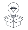 bulb in box isolated icon design vector image