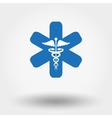 Caduceus sign Medical icon vector image