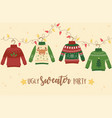 christmas ugly sweater party decoration deer vector image