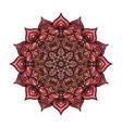 circular pattern pink floral mandala on white vector image vector image