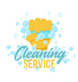 cleaning service logo symbol or label template vector image vector image
