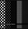 collection of geometric seamless patterns vector image