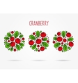 Cranberry round labels creative concept vector image
