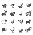 Domestic Animals Icons Set vector image vector image