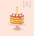 doodle birthday cake vector image