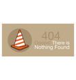 error 404 banner vector image