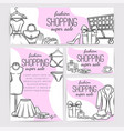 fashion shop layout vector image