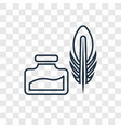 feather and ink concept linear icon isolated on vector image