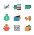 Finance Icons Flat vector image vector image