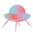 flying saucer design vector image