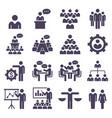 group of business people icons set vector image