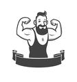 gym emblem vector image vector image