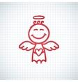 hand drawn angel vector image vector image