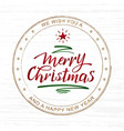 handwritten merry christmas and happy new year vector image
