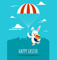 happy easter day background decorative with vector image