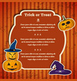 happy halloween party greeting template vector image
