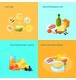 Healthy Food Flat vector image vector image