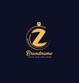 initial letter z luxury premium flourish perfume vector image vector image