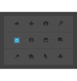 Interface icons for signs vector image vector image
