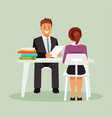 interview work vector image