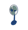 isolated modern electric fan icon vector image vector image