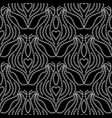 lace ethnic seamless pattern black and white vector image vector image