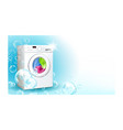 laundry service advertise promo banner vector image vector image