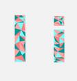 letter ilow poly alphabetgeometric styleabstrac vector image vector image
