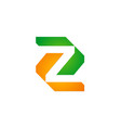 letter z geometry company logo vector image vector image