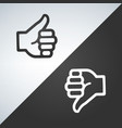 like and dislike icon flat design isolated on vector image