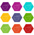 love potion icons set 9 vector image vector image