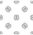 mind brain pattern seamless vector image vector image