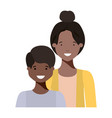 mother with her son smiling avatar character vector image vector image