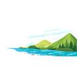 mountain river conceptual vector image vector image