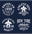 new york brooklyn typography badges set for vector image vector image