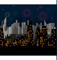 Night City celebrates vector image