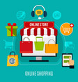 online shopping flat composition vector image vector image