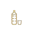 Plastic bottle computer symbol vector image vector image